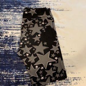 Black and grey Lularoe star leggings